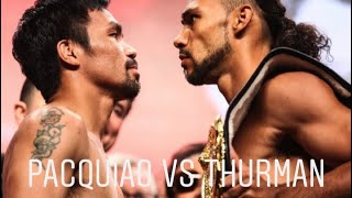 Pacquiao vs Thurman I Celebrity interview after the fight I Live in Las Vegas
