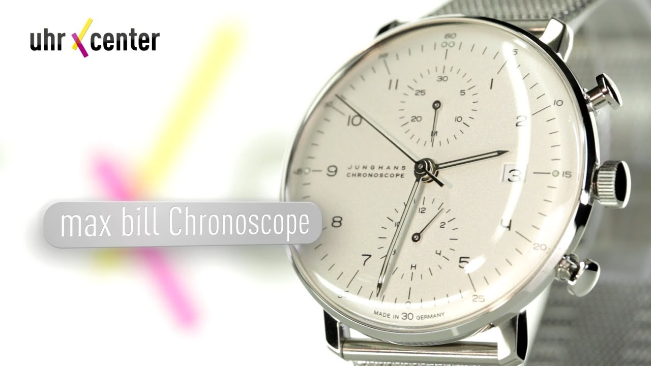 junghans 027 max bill chronoscope herrenuhr youtube. Black Bedroom Furniture Sets. Home Design Ideas