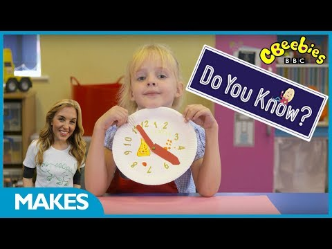 CBeebies | Do You Know? | Make a Clock with Maddie