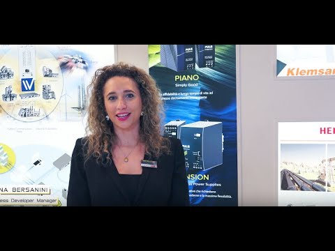 SPS IPC DRIVES Parma 2017 - Interview with Elena Bersanini