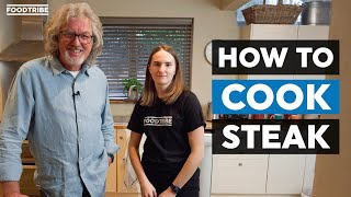 Attempting to cook the perfect steak with James May