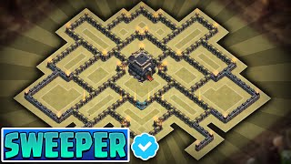 CLASH OF CLANS - TOWNHALL 9 (TH9) TROPHY/CLAN WARS BASE w/ Air Sweeper!! (revamp)