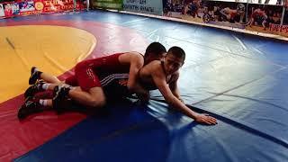Спорт. Греко-римская борьба. Первенство Кыргызстана среди кадетов -2019 День 2 (Мат A Часть 2)