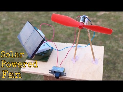 How to Make a Mini Solar Powered Fan at Home