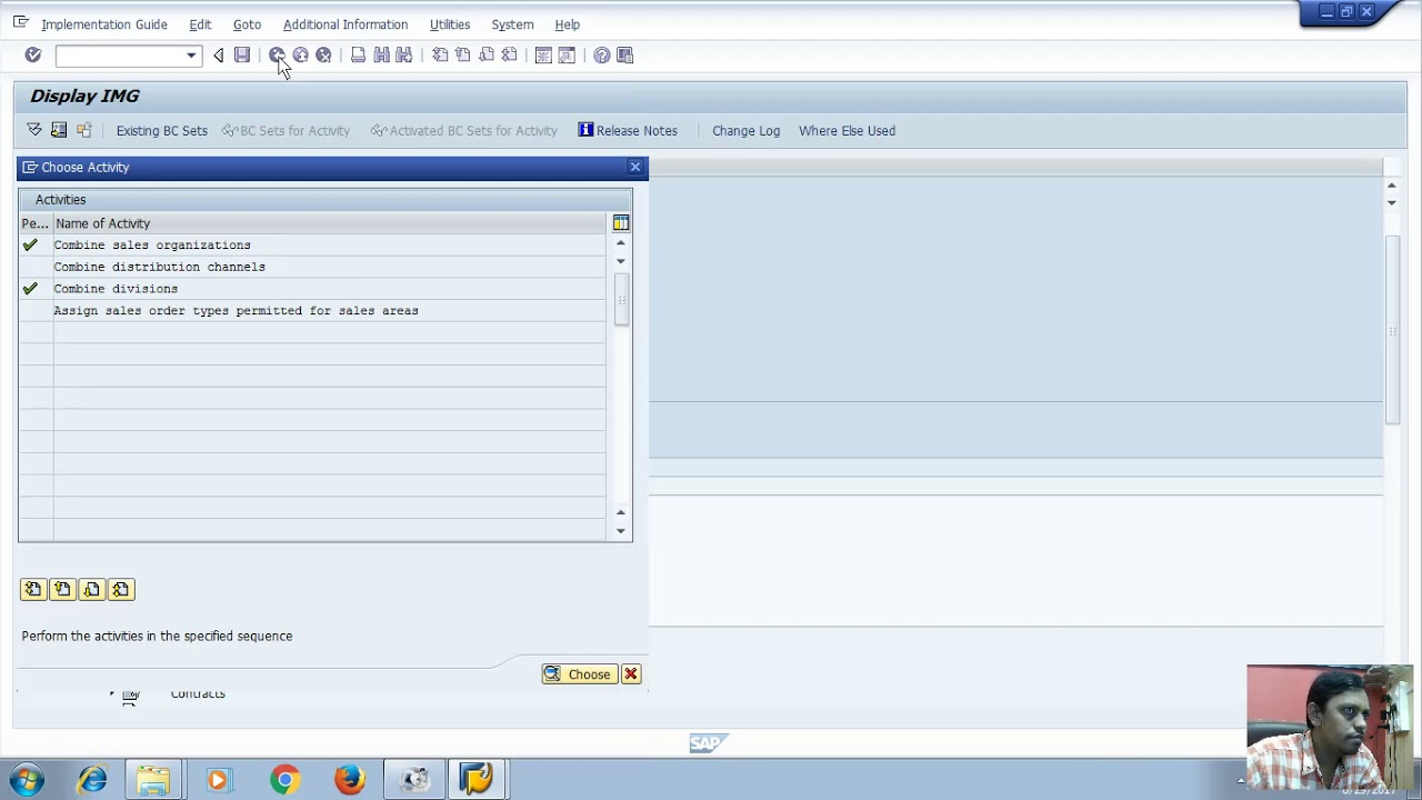 sap sd configuring sales document assign sales area creating order reason  define purchase order type
