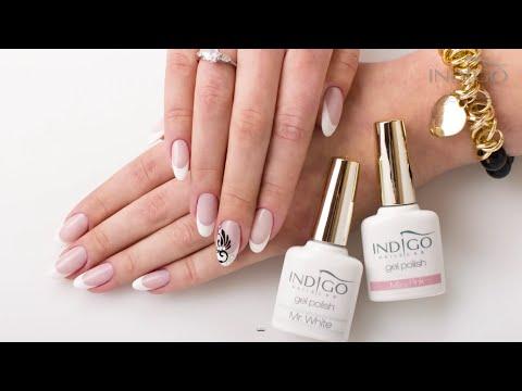 French Manicure Indigo Nails