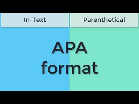 APA Style: In-text & Parenthetical Citations