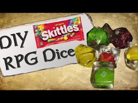 How To Make Your Own Custom Dice | Skittles Die Set