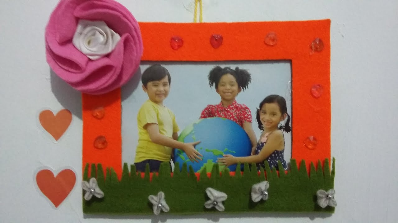 Diy photo frame ideas from cardboard and fabric youtube jeuxipadfo Gallery