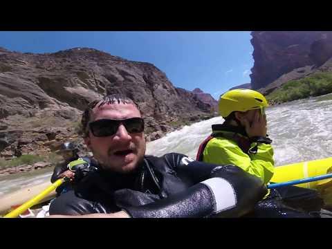 Lava Falls Class 9 Rapid at 14,000 CFS, Grand Canyon River Trip May 2017
