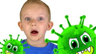 Martin and the Children's Story about viruses / Kids Stay at Home
