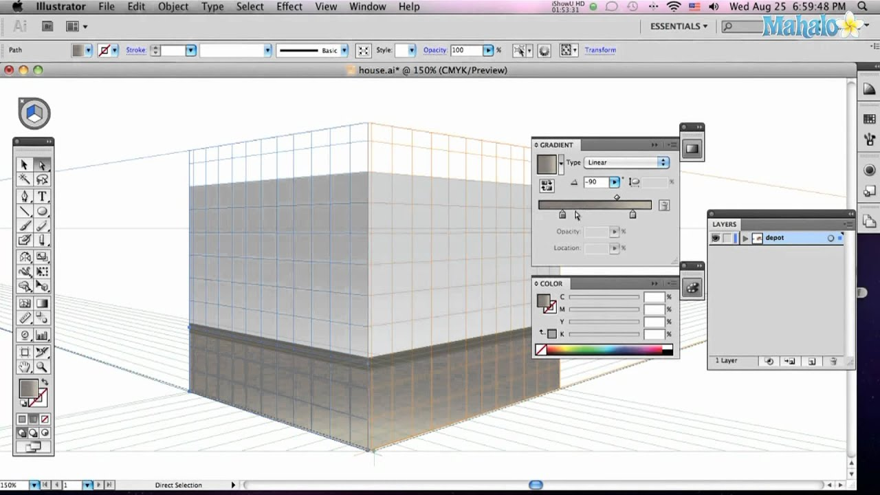 How To Use The Perspective Tool In Adobe Illustrator Youtube