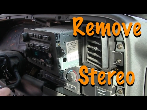 How To Remove Stereo – 2004 GMC Sierra Pick Up
