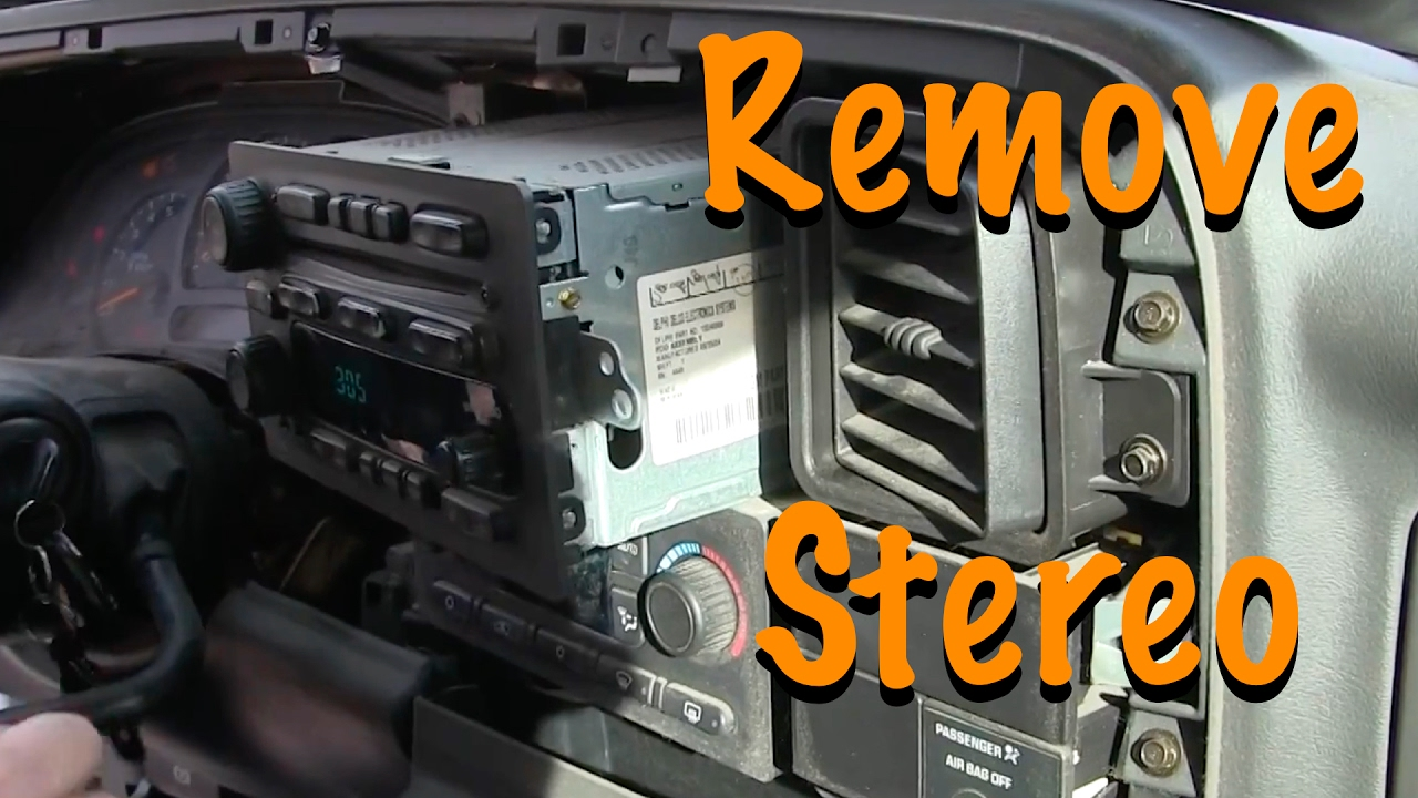 How To Remove Stereo - 2004 GMC Sierra Pick Up - YouTube