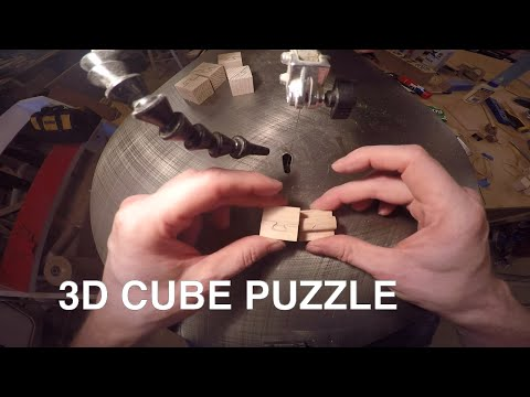 wood cube puzzles -  scroll saw puzzle