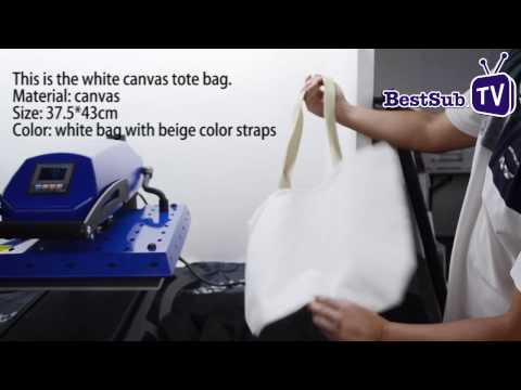 How to Sublimate Canvas Tote Bags