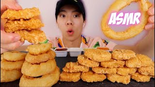 ASMR CHICKEN NUGGETS & ONION RINGS + EXTREME CRUNCH EATING SOUNDS 리얼사운드 먹방  [eatingwdaniel]