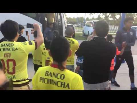 """Llegada de Barcelona Sporting Club al estadio """"Central Broward Stadium"""""""