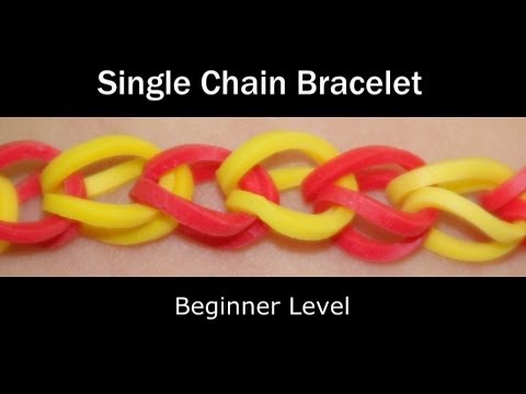 Rainbow Loom® Single Chain Bracelet - Lesson 1