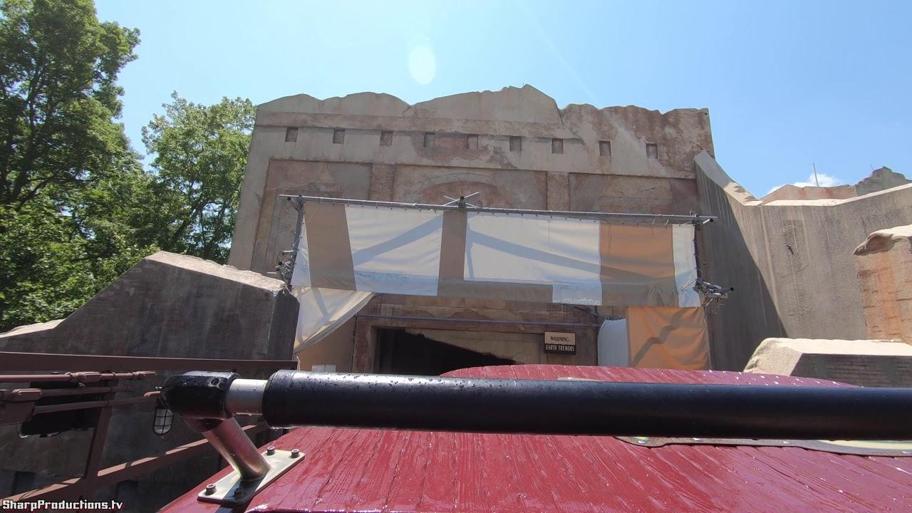 Escape From Pompeii (4K On-Ride) Busch Gardens Williamsburg