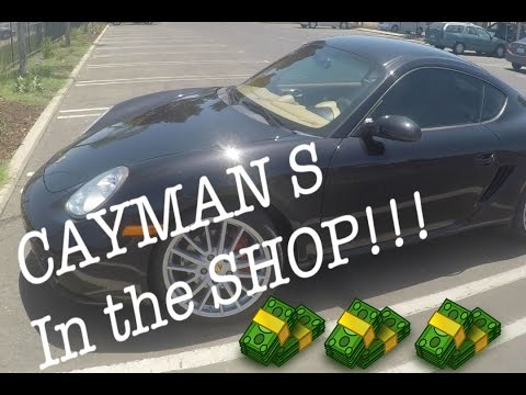 My Porsche Cayman S is in the SHOP!! (Vlog)
