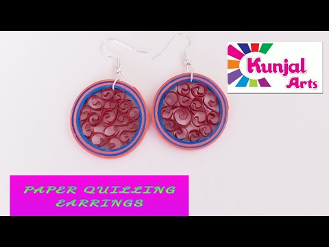 HOW TO MAKE PAPER QUILLING EARRINGS / SIMPLE DIY EASY TO MAKE EARRINGS / ACCESSORIES / PAPER ART