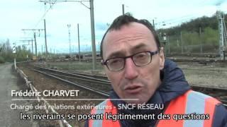 Visite du triage ferroviaire de Sibelin au Sud de Lyon par la conférence riveraine.