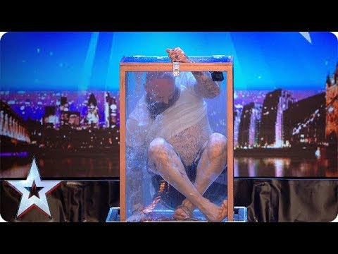 Can handcuffed daredevil escape a locked water tank?! | Britain's Got Talent 2018