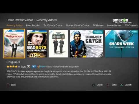 Viendo la Aplicacion de la PS3 Amazon Instant Video