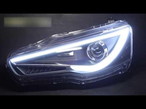 Видеозапись Тюнинг фары Митсубиси Лансер 10 | Tuning headlights Mitsubishi Lancer X