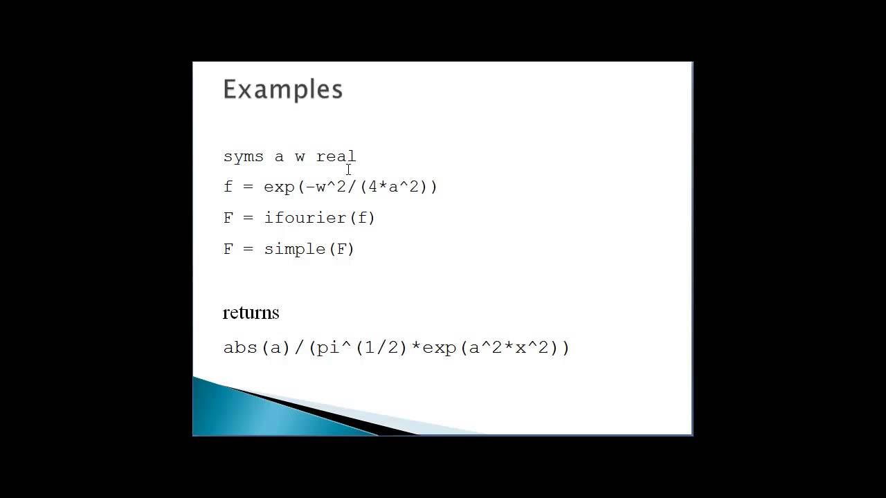 Symbolic Math Toolbox In Matlab Matlab Tutorials Matlab