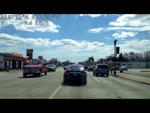Driving from Shelby Township, Michigan to Warren, Michigan (03/29/2017)