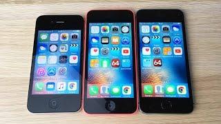 iPhone 4S vs iPhone 5C vs iPhone 5S -