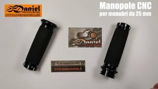 Manopole moto alluminio CNC e gomma