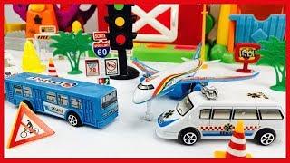 Carros para Niños - Autobus, Ambulancia y Avión - Videos Educativos