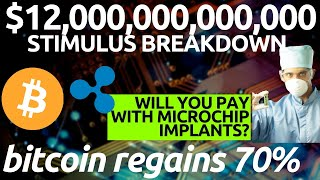 BITCOIN TO SKYROCKET | $12 TRILLION Global Stimulus and Dow Jones | Microchip Implant with Ripple