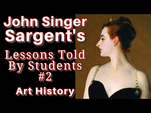 Master Lessons from John Singer Sargent Portrait oil painting technique (Art History Documentary)