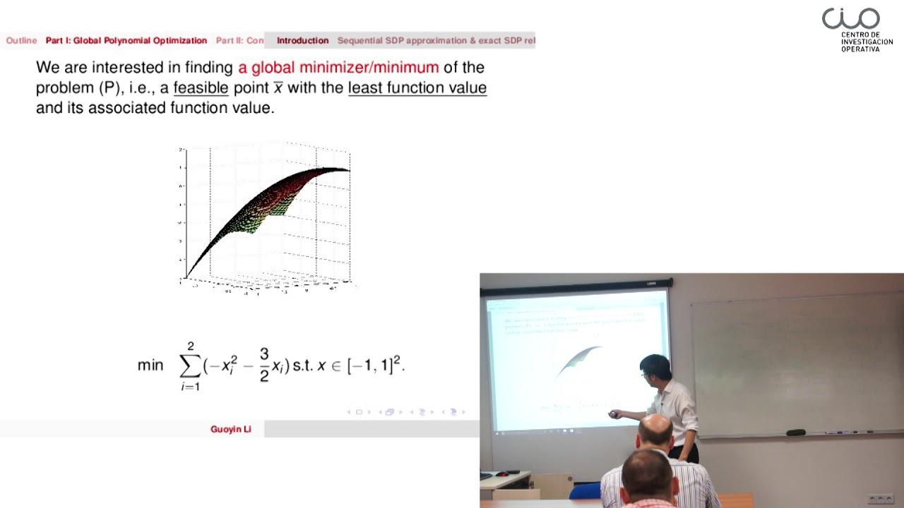 "Download Conferencia ""Some Recent Advances in Polynomial Optimization"""