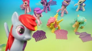 2016 MY LITTLE PONY SET OF 8 McDONALDS HAPPY MEAL KIDS TOYS VIDEO REVIEW