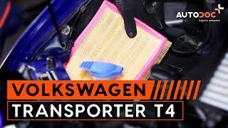 Cómo cambiar Filtro de aire en VW TRANSPORTER T4 [INSTRUCCIÓN]