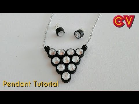 how to make quilling jewellery at home
