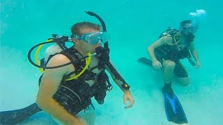 WE'RE LEARNING SCUBA DIVING!