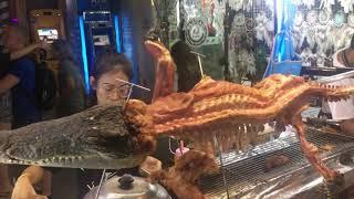 Grilled crocodile (Bangkok, Thailand)