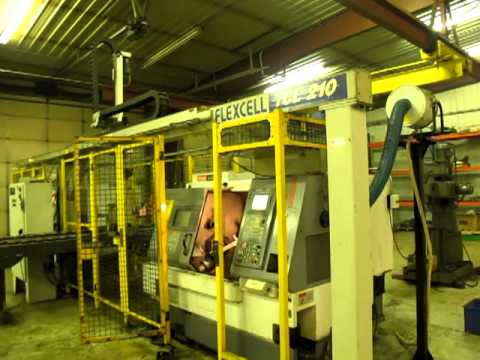 Mazak Quickturn Nexus 200 (2) Machine CNC Lathe Cell with Robotic Gantry Load / Unload Travel Video