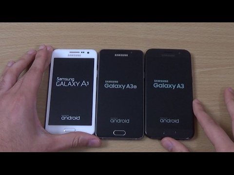 Samsung Galaxy A3 2017 vs A3 2016 vs A3 2015 - Speed Test!