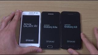 Samsung Galaxy A3 2017 vs A3 2016 vs A3 2015 - Speed Test!