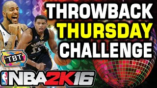 NBA 2K16 Throwback Player Challenge