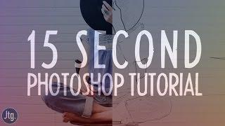 Video 15 Second Photoshop Ep. 2: Photo to Pencil Sketch Effect Tutorial download MP3, 3GP, MP4, WEBM, AVI, FLV Juni 2018