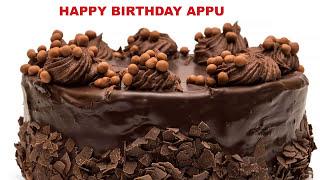 Appu  Cakes Pasteles - Happy Birthday