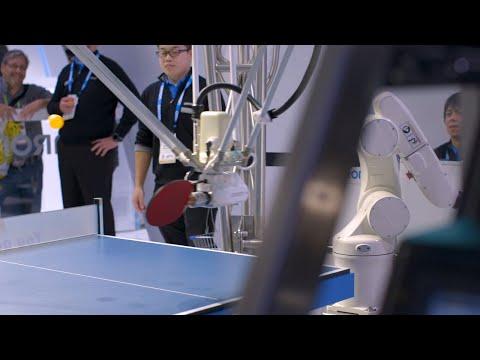Download Youtube: Ping-pong playing robot vs human